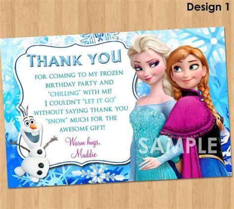 disney frozen   card frozen   note