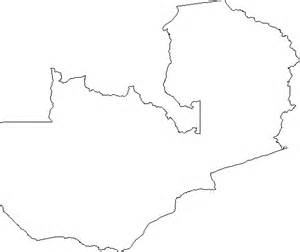 blank outline map  zambia