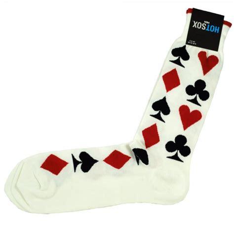 hot sox playing cards ivory mens novelty socks  ties