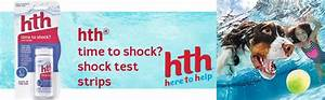 Hth Test Chart Amazon Com Hth Pool Shock Test Time To Shock Test Strips