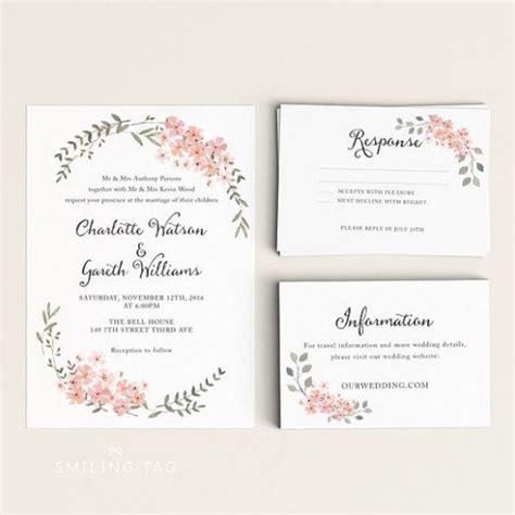 Wedding Invites Rsvp Response Cards Botanical wedding