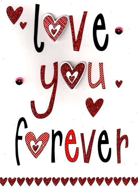 Love You Forever Handfinished 3d Valentines Card Cards