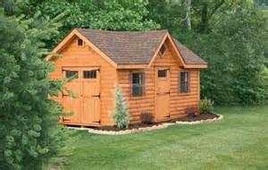 Amish Log Cabin Sheds