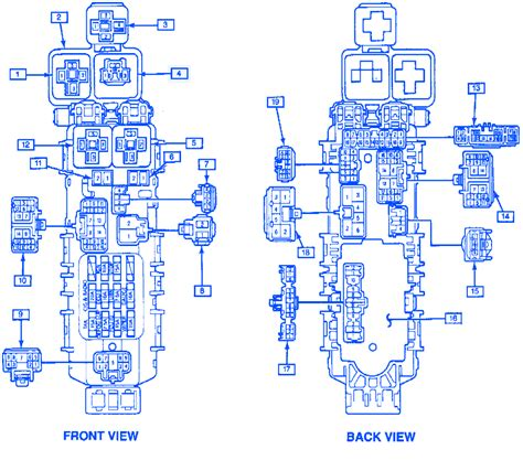 1994 Geo Metro Fuse Box Diagram by Geo Metro 1994 Hatchback Component Junction Fuse Box Block