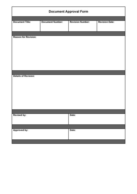 commitment action document template document approval form sle quality manual