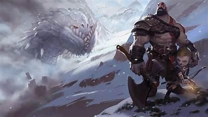 God War Kratos Wallpapers Concept Fanart Atreus