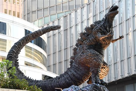Shin Godzilla Statue At Hibiya Chanter April 28, 2018