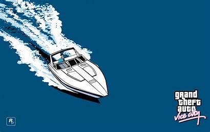 Vice Grand Theft Games Rockstar Boat Sea