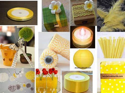 idee de decoration de mariage jaune  gris tendance boutik