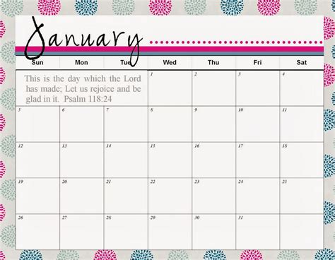 Calender Template Free January Printable Calendars With Holidays Printable