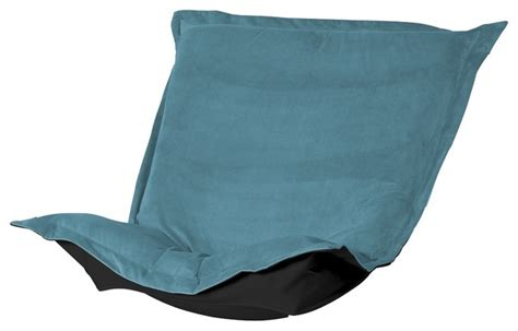 mojo turquoise puff chair cushion contemporary seat