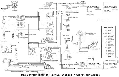 66 Mustang Wiring Diagram by S 66 Mustang 1966 Mustang Wiring Diagrams