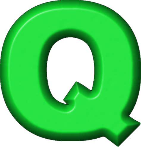 Presentation Alphabets: Green Refrigerator Magnet Q