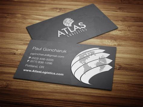 industrial carrier company business card brochure design