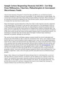 financial assistance letter sample Financial Assistance