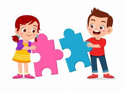Puzzle Clipart Together Freepik Play Solve Vector