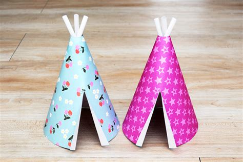 paper teepee kids crafts fun craft ideas