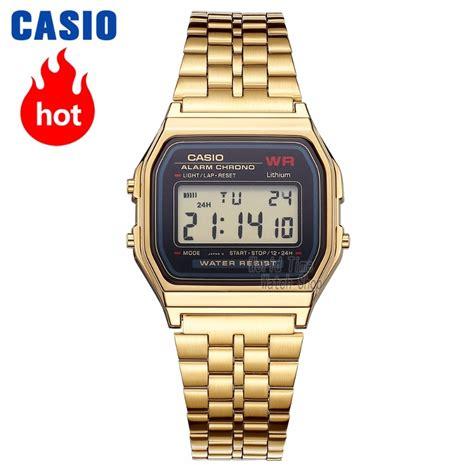 casio  analogue mens quartz sports  trend retro small gold   quartz watches