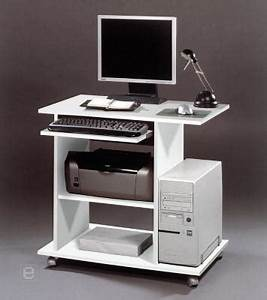 Computertisch Auf Rollen : neu computertisch schreibtisch pc tisch auf rollen mit ~ Watch28wear.com Haus und Dekorationen