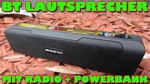 Soundbox Mit Radio : bluetooth soundbox mit radio und powerbank vorstellung ~ Kayakingforconservation.com Haus und Dekorationen