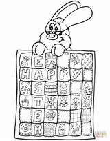 Quilt Coloring Easter Pages Printable Silhouettes Games Dot sketch template