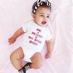 Newborn Infant cute Baby Girl Short Sleeve Letter Romper ...