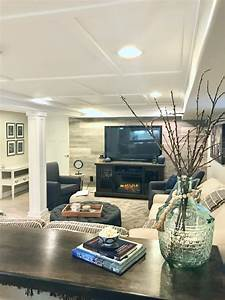 Cozy Up With This Charming Farmhouse Inspired Basement