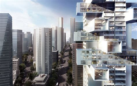 towers mix  horizontal vertical planes redefines urban