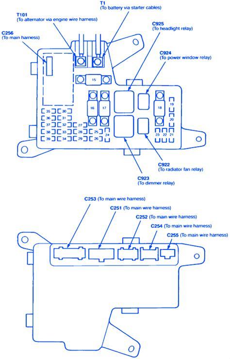 1994 Honda Accord Ex Fuse Diagram honda accord ex 4 1994 fuse box block circuit breaker