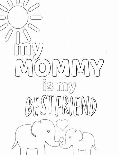 Coloring Pages Mom Printable Sheet Simple Mother