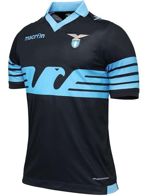 New Lazio Away Jersey 20152016 Black Ss Lazio Alternate