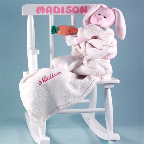 personalized rocking chair baby gift set