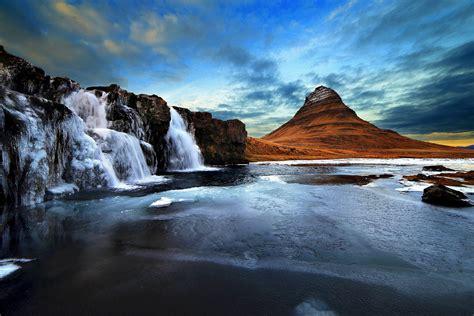 Kirkjufell Ice Iceland Kirkjufell Mountain Kirkjufell