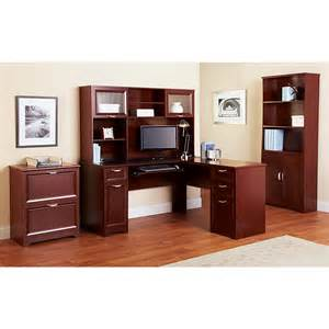 realspace magellan collection outlet hutch 33 5 8 h x 58 w x 11 5 8 d classic cherry sku