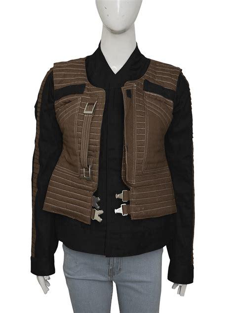 rogue  star wars series jyn erso brown jacket