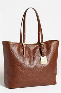 longchamp lm cuir medium leather tote in brown lyst With canapé cuir cognac