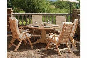 awesome table de jardin ronde avec rallonge ideas With banc en teck pour jardin 10 tables de jardin pliantes extensibles jardinerie truffaut