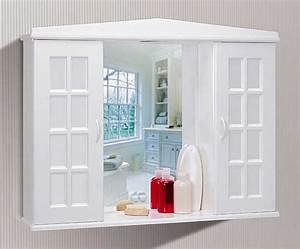 Eck Spiegelschrank Bad : spiegelschrank bad wei mit zwei t ren und inklusive ablageboden ~ Frokenaadalensverden.com Haus und Dekorationen