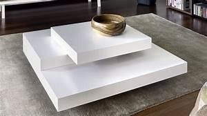 Table Basse Blanc Laqué Et Bois : table basse laque blanc design tables basses en verre de salon maisonjoffrois ~ Teatrodelosmanantiales.com Idées de Décoration