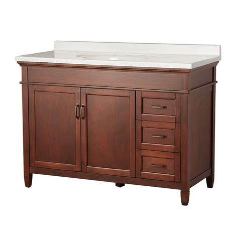 Foremost Ashburn Bathroom Vanity by Foremost Ashburn 49 In W X 22 In D Vanity In Mahogany