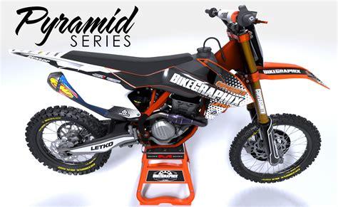 motocross bike graphics ktm pyramid semi custom motocross graphics bikegraphix