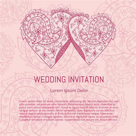 indian wedding card vector   vector art