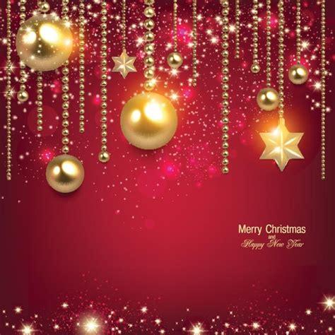 Free vector glowing christmashanging on red elegant