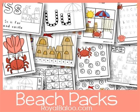 free themed printable packs for preschoolers 301 | BeachPreview