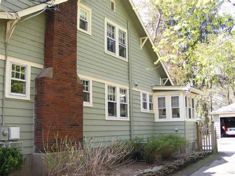 expose brick wood painting modern home exterior