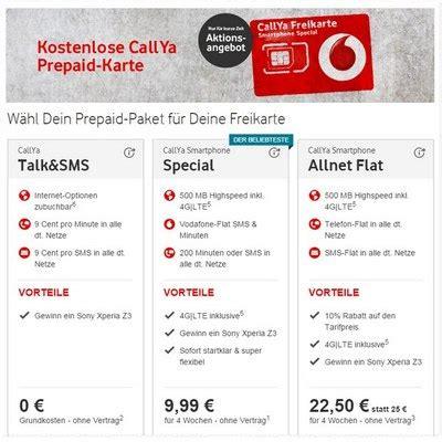 Vodafone Kostenlos Sim Karte Bestellen