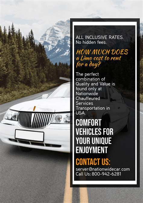 A Limo For A Day by How Much Does A Limo Cost To Rent For A Day 800 942 6281