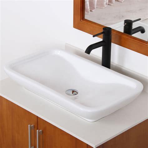elite ceramic bathroom sink  unique rectangle design