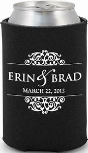 Beer koozie wedding favors and favors on pinterest for Beer koozie wedding favors