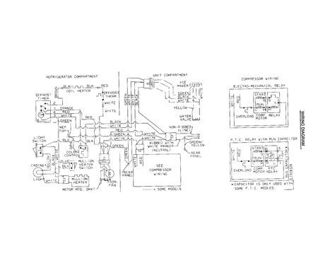 frigidaire refrigerator frigidaire refrigerator schematic